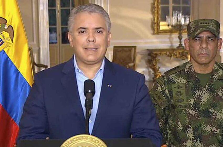 Duque afirma que mantendrá asistencia militar hasta que se recupere el orden público